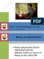 Rizal's Philosophies in life