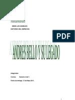ANDRES BELLO Y SU LEGADO
