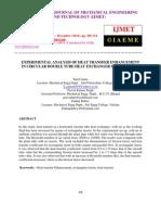 Experimental Analysis of Heat Transfer Enhancementin Circular Double Tube Heat Exchanger Using Inserts