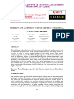 Modeling and Analysis of Surface Grinding for Residual Stresses in Workpiece