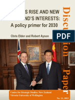 CHINA'S RISE AND NEW ZEALAND'S INTERESTS