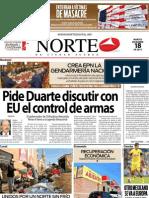 Periodico Norte de Ciudad Juárez 18 de Diciembre de 2012
