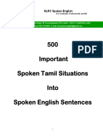 500 Important Spoken Tamil Situations Into Spoken English Sentences - Sample