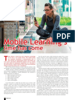 Mobile based learning is on its way to becoming an integral strategy at many organisations and educational institutions