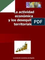 La actividad económica y los desequilibrios territoriales (2012)