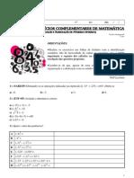 3 Lista de Exercicios Complementar de Matematica