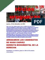 Noticias Uruguayas Martes 18 de Diciembre Del 2012