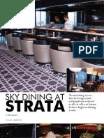 Sky Dining at Strata