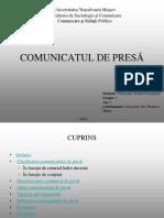 Comunicatul de presa
