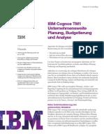 IBM Cognos TM1 Unternehmensweite Planung, Budgetierung und Analyse