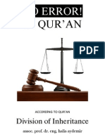 Division of Inheritance According to Noble Quran