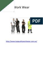 Work Wear PDF