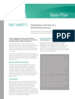 Murray-Darling Basin Plan Fact Sheet 7 - Managing Australia's Water Resources
