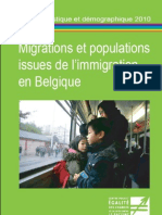 Migrations Et Populations Issues de L'Immigration en Belgique