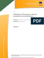 Attitudes of European Citizens Towards the Environment