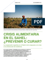 Crisis alimentaria en el Sahel