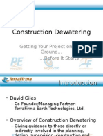 Construction Dewatering Means and Methods Presentation