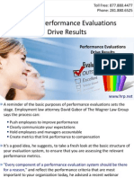 Making Performance Evaluations Drive Results