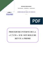 Procedure Interne de La Cnm