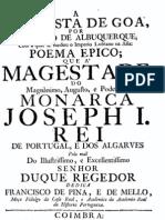 A Conquista de Goa por Afonso de Albuquerque, poema épico por Francisco de Pina