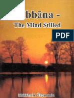 Nibbana - The Mind Stilled