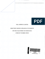 Peel Airports Directors' Report & Financial Statements (2012)