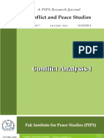 Conflict and Peace Studies