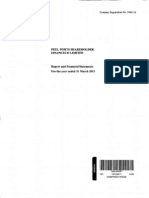Peel Ports Shareholder FinanceCo Directors' Report & Financial Statements (2011)