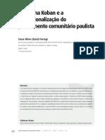O sistema Koban e a institucionalização do  policiamento comunitário paulista.