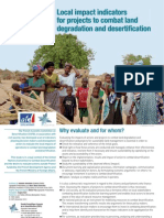 Local impact indicators for projects to combat land degradation and desertification
