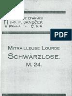 Schwarzlose - Mitrailleuse Lourde Schwarzlose M24 - Czechoslovakia 1930