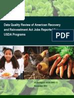 USDA IG report on stimulus jobs reporting