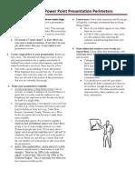 presentation guide lines