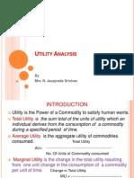 Unit-III Utility Analysis