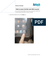 WL556E Connecting Your iPad to Your Aztech WL556E With WPA2 Security