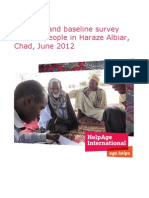 Nutrition and baseline survey of older people in Haraze Albiar, Chad, June 2012