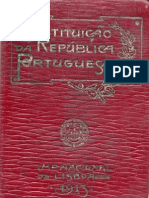 Constituição da República Portuguesa 1913
