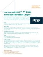 March Madness Extended League Flyer