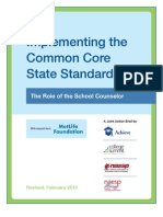 Implementing the Common Core State Standards