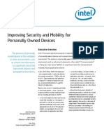 Improving Security and Mobility for Personally Owned Devices Paper