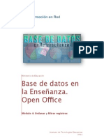 Base de datos, Ordenar Registros