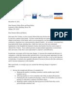 Letter to Senators Klein Skelos