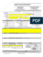Warranty Evaluation Request- Last Version
