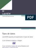 Tipos de datos en Labview