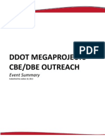 DDOT Megaprojects CBE DBE Outreach Summary