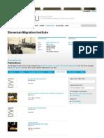 Publications 2012   Slovenian Migration Institute