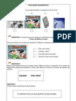 AVALIAÇÃO DE PORTUGUÊS- PAIXÃO DE EDUCAR