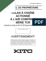 TCR Instructions d'utilisation et de sécurité