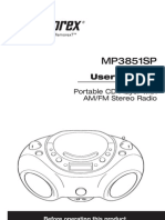 Memorex MP3851BLK User Guide