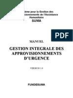 GESTION INTEGRALE DES APPROVISIONNEMENTS D'URGENCE